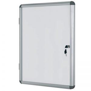 avizier magnetic cu cheita geam protector si rama din aluminiu bi office 981x940 mm 9040