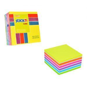 cub autoadeziv 76x76 mm stickn 7 culori asortate 400 filebuc 9243