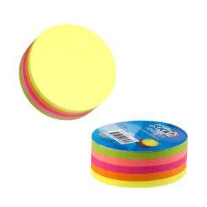 cub autoadeziv cerc 67x67 mm stickn 5 culori neon 250 filebuc 9246