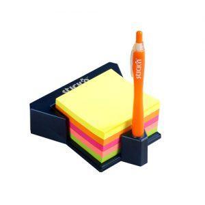 cub autoadeziv cu suport 76x76 mm stickn 5 culori neon 400 filebuc 9248