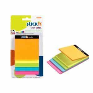 cub autoadeziv stickn magic steps 5 culori neon 150 filebuc 9253