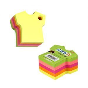 cub autoadeziv tricou 70x70 mm stickn 5 culori neon 400 filebuc 9254