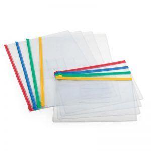 buzunar plastic a4 cu fermoar pt documente forpus 8809