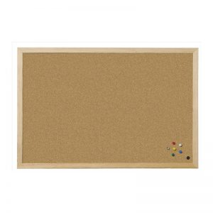 panou de pluta cu rama de lemn bi office 45x60 cm 9103