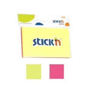 notes autoadeziv 127x76 mm stickn 2 culori neon 100 filebuc 9313