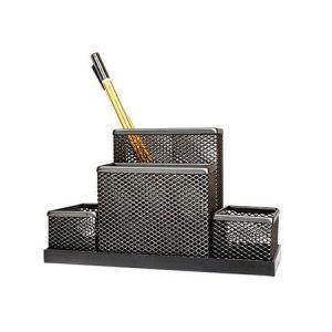 suport plasa metalica pt accesorii de birou forpus negru 8967