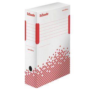cutie de arhivare din carton alb esselte speedbox 350x100x250 mm 9774