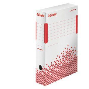 cutie de arhivare din carton alb esselte speedbox 350x80x250 mm 9776