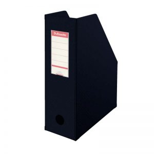 suport vertical din carton plastifiat esselte 10 cm negru 9929