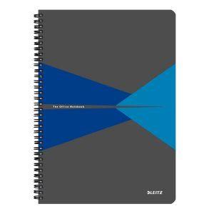 caiet de birou a4 cu coperti din carton laminat leitz office matematica albastru 90 file 10021