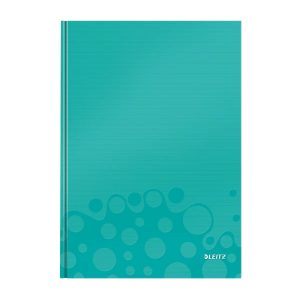 caiet de birou a4 cu coperti din carton laminat leitz wow matematica turquoise metalizat 80 file 10038