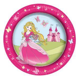 farfurie carton diametru 23cm set 8 bucati princess 7758